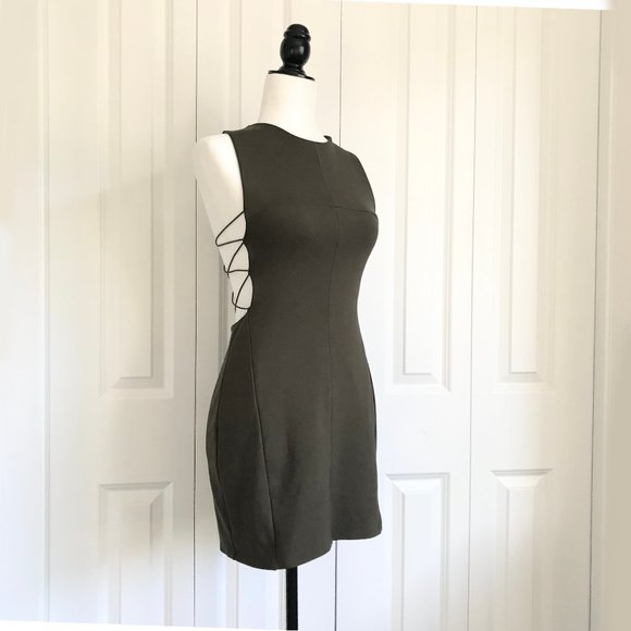 UO Silence + Noise Cut Out Knit Dress